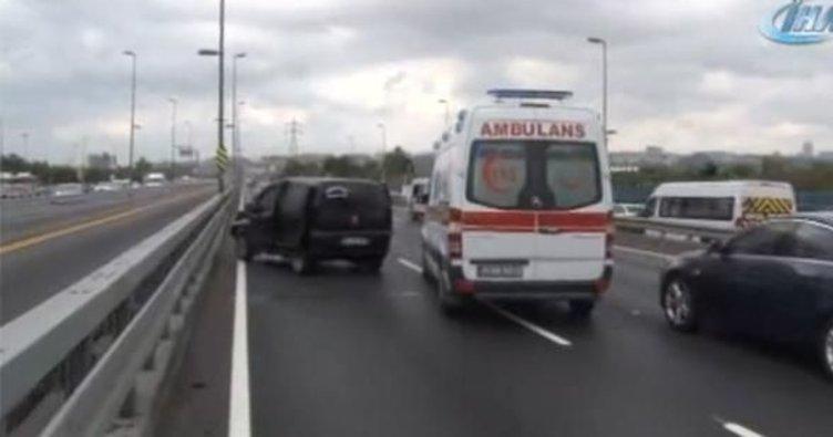 E-5'te trafiği felç eden kaza!