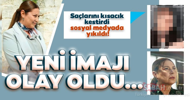 Saçlarını kısacık kestiren Vahide Perçin sosyal medyayı salladı! Bir Zamanlar Çukurova'nın Hünkar'ı Vahide Perçin imajını değiştirdi!