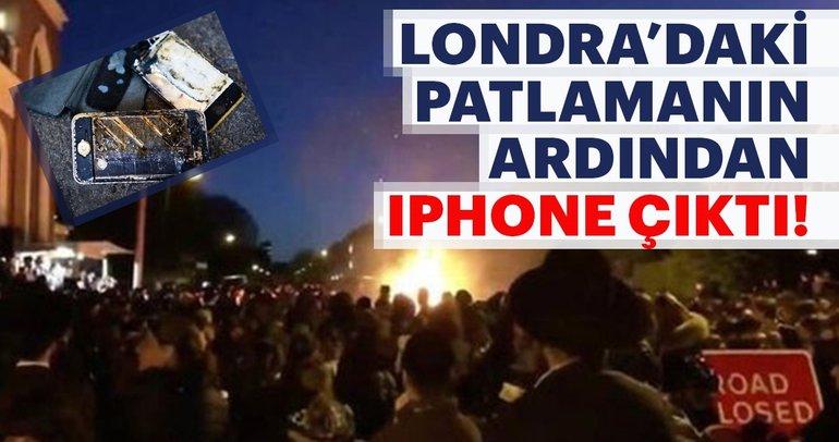 Londra'da gerçekleşen patlamanın ardından Iphone çıktı!