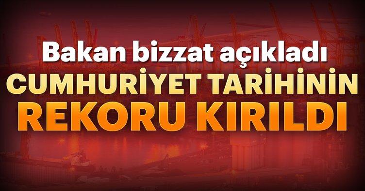 Bakan Pekcan: Cumhuriyet tarihinin ihracat rekorunu kırdık