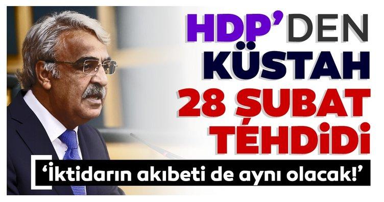 HDP'li Mithat Sancar'dan 28 Şubat tehdidi: İktidarın akıbeti de aynı olacak