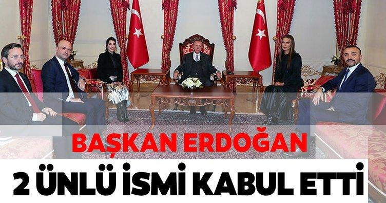Cumhurbaşkanı Erdoğan Hande Yener ve Demet Akalın'ı kabul etti