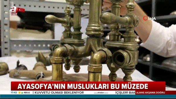 Ayasofya Camii'nin de muslukları bu müzede! İşte tarihin ilk örneği musluk... | Video