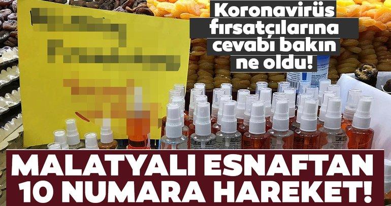 Corona virüs fırsatçılarını utandıracak haber! Malatyalı esnaftan 10 numara hareket