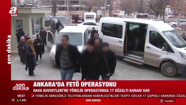 Son dakika! Ankara'da FETÖ operasyonu: 17 gözaltı | Video
