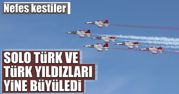 Solo Türk ve Türk Yıldızları'ndan Konya semalarında gösteri