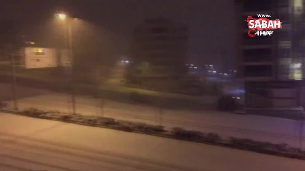 Son dakika! Gaziantep'te beklenen kar yağışı başladı | Video
