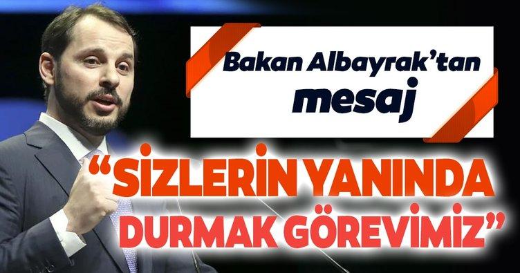 Bakan Albayrak: Stok Finansman Destek Paketi'nin ülkemize hayırlı olmasını diliyorum