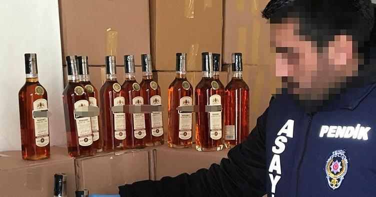 Pendik'te sahte içki imalathanesine operasyon: 4 gözaltı