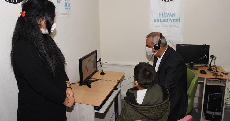 Hilvan Belediyesi EBA destek noktası hizmete açıldı