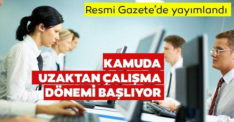 Son dakika haberi: Başkan Erdoğan'ın imzasıyla yayımlandı! Kamuda uzaktan çalışma dönemi başlıyor