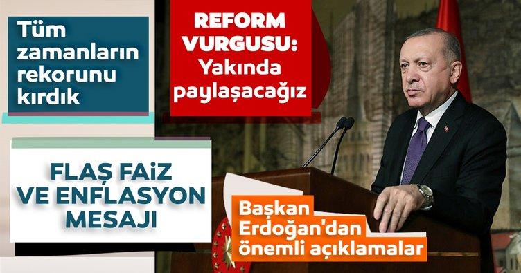 Son dakika haberi | Başkan Erdoğan'dan reform mesajı: Yakında kamuoyu ile paylaşacağız...