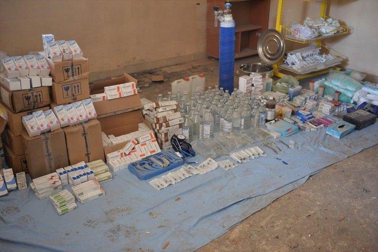 Nusaybin'de PKK'nın ilaç deposu bulundu