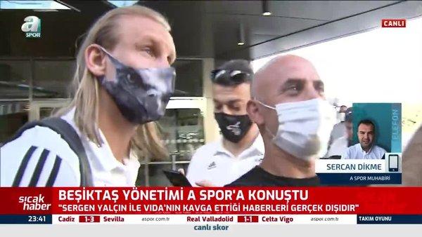 Beşiktaş'tan kavga açıklaması! Sergen Yalçın ve Vida...