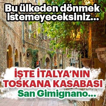 Tarih kokan Toskana kasabası San Gimignano