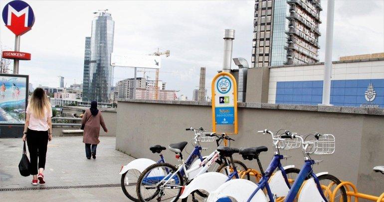 İstanbullulara metrolarda ücretsiz bisiklet parklar