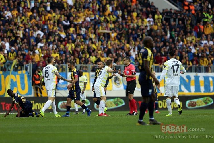 Ankaragücü-Fenerbahçe maçında kavga çıktı! 2 kırmızı kart