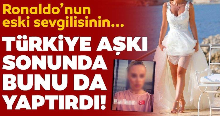 Ronaldo'nun eski sevgilisi Rhian Sugden Türkiye'ye aşık