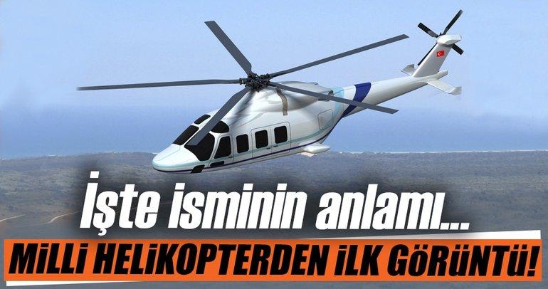 Milli helikopter TAI T-625'ten ilk görüntü!