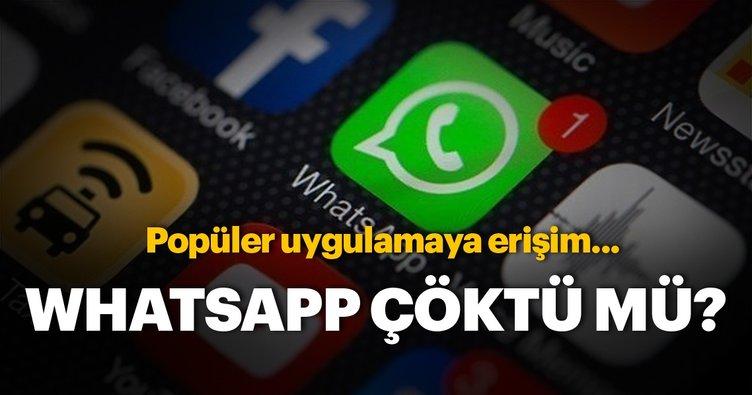 WhatsApp çöktü mü? WhatsApp şu an çalışıyor mu? Sorun nedir?