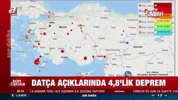 SON DAKİKA HABERİ: Muğla'nın Datça ilçesi açıklarında 4.8 şiddetinde deprem meydana geldi | Video