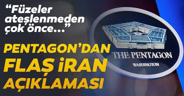 Pentagon yetkilisi: Erken uyarı sistemleri İran'ın fırlattığı füzeleri çok önceden tespit etti