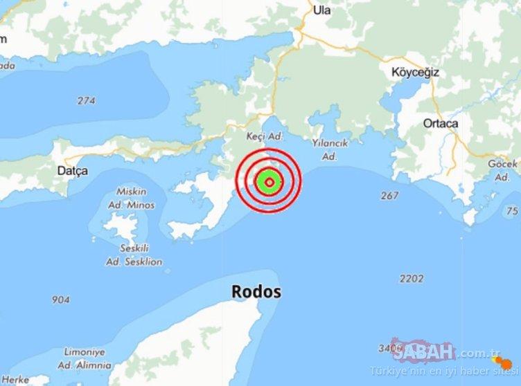 Son Dakika Haberi: Muğla'da deprem! Muğla, Bodrum, İzmir gün deprem ile başladı - Son depremler