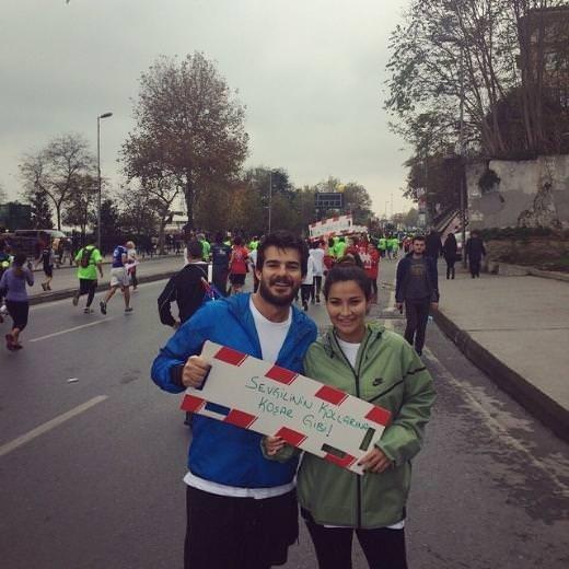 Avrasya Maratonu'na ünlüler de katıldı