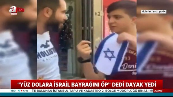 Filistin'de sosyal deney dayakla bitti! İsrail bayrağını öptürmeye çalışınca...   Video