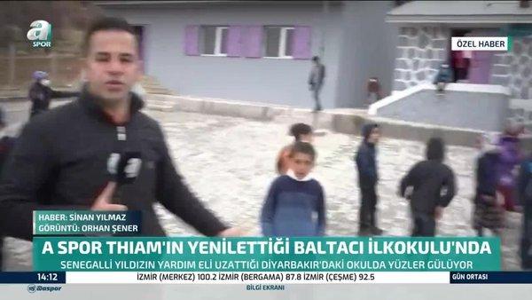 A Spor, Fenerbahçe'li Thiam'ın yenilettiği köy okulunda   Video