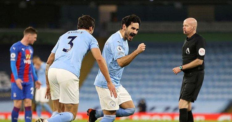 Manchester City sahasında Crystal Palace'ı farklı yendi