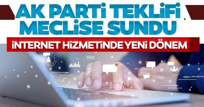 Son dakika: İnternette yeni dönem! AK Parti düzenlemeyi Meclis'e sundu