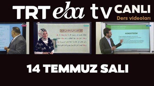 TRT EBA TV izle! (14 Temmuz 2020 Salı) 'Uzaktan Eğitim' Ortaokul, İlkokul, Lise kanalları canlı yayın | Video