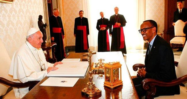 Ruanda Devlet Başkanı Kagame'den Vatikan ziyareti