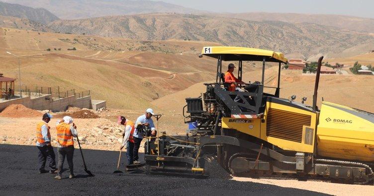 Siirt'te asfalt çalışmaları başladı