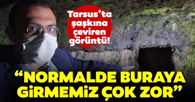 Son dakika haberler: Tarsus'ta şaşkına çeviren görüntü! Sular çekilince ortaya çıktı...