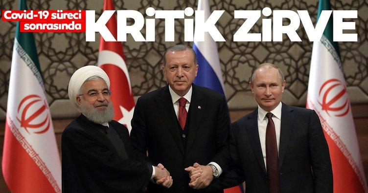 SON DAKİKA! Başkan Erdoğan, Putin ve Ruhani'nin Kritik İdlib zirvesi başladı
