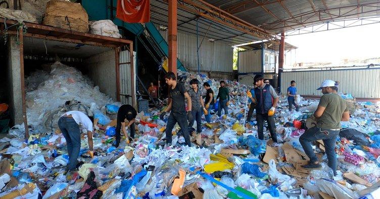 Çöpe giden ihracat ürünlerini görevliler fark etti