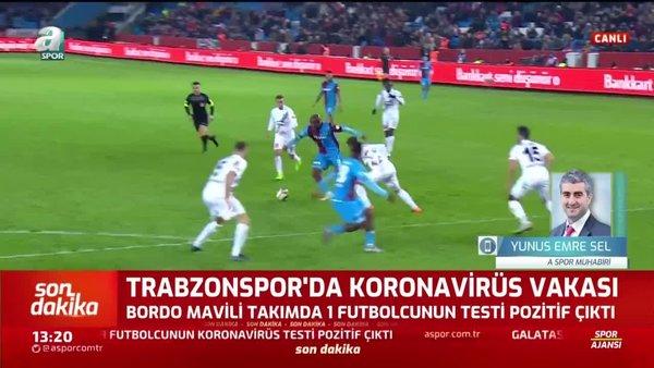 Trabzonspor'da 1 oyuncunun corona virüsü testi pozitif!