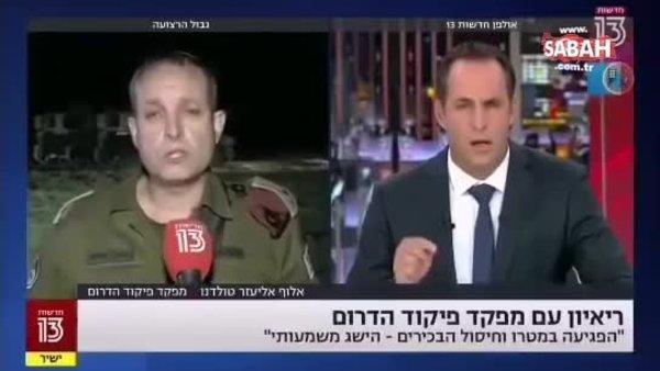İsrailli komutan, canlı yayında İsrail'in başarılarından bahsederken sirenleri duyunca kaçtı | Video