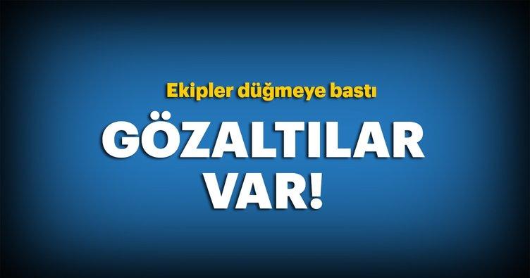 İstanbul'da  operasyon! Gözaltılar var