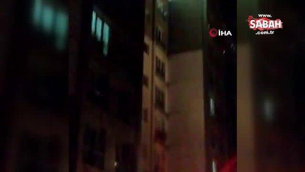 Esenyurt'ta bir sitede korkutan patlama | Video