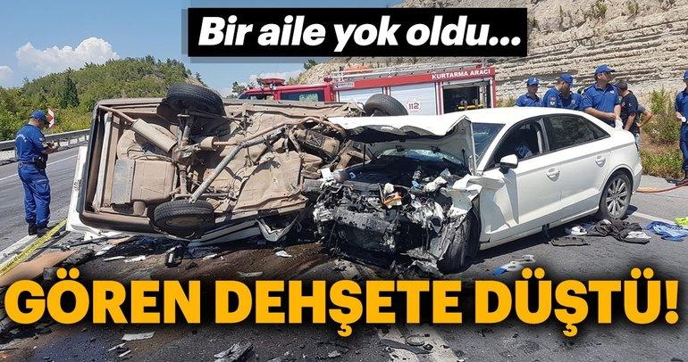 Son Dakika Haberi: Antalya'da korkunç kaza! 3 ölü, 4 yaralı...