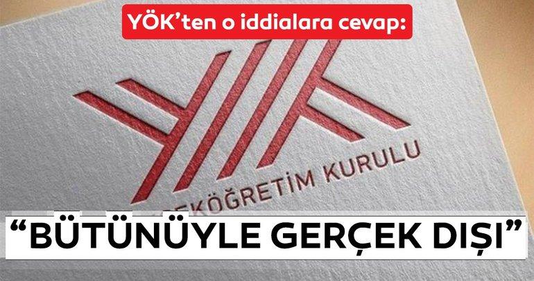YÖK Başkanı Saraç'tan son dakika 'özel yetenek sınavı' açıklaması! Bütünüyle gerçek dışı...