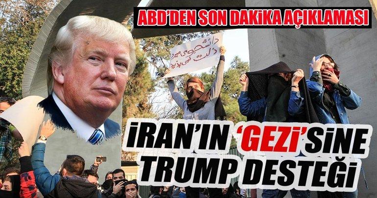 Trump, İran'daki gösterilere açıkça destek veriyor