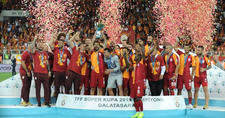 TFF Süper Kupa'nın sahibi Galatasaray! Kendine ait rekoru geliştirdi