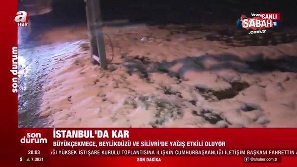 Son Dakika: Kar yağışı Büyükçekmece, Beylikdüzü ve Silivri'de etkili oluyor   Video