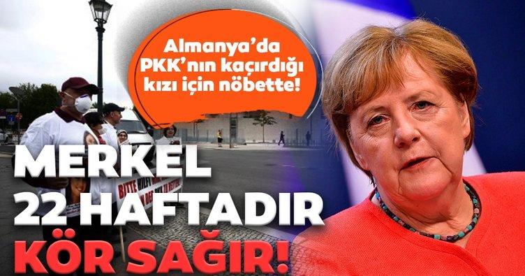 PKK'nın kaçırdığı kızı için nöbette! Merkel 22 haftadır kör sağır!