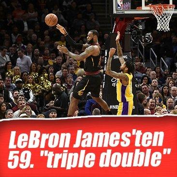 LeBron James'ten 59. triple double