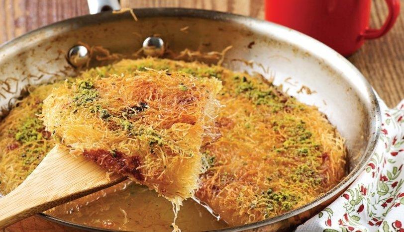 Yerfıstıklı peynirli kadayıf böreği tarifi